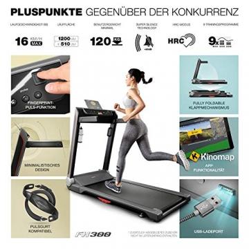 Sportstech FX300 Ultra Slim Laufband   Deutsches Qualitätsunternehmen   Video Events, Multiplayer App & USB Ladeport   Riesen Lauffläche 51x122cm & kein Aufbau   16 km/h Spitze   Pulsgurt kompatibel - 7