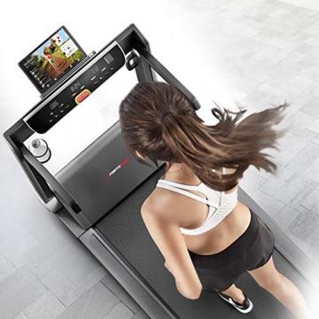 Sportstech FX300 Ultra Slim Laufband   Deutsches Qualitätsunternehmen   Video Events, Multiplayer App & USB Ladeport   Riesen Lauffläche 51x122cm & kein Aufbau   16 km/h Spitze   Pulsgurt kompatibel - 9