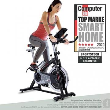 Sportstech Indoor Speedbike SX200 Sportgerät für Zuhause | Deutsches Qualitätsunternehmen + Video Events & Multiplayer APP | Hometrainer für Fitness | Heimtrainer-Fahrrad mit 22KG Schwungrad - 1
