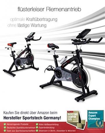 Sportstech Indoor Speedbike SX200 Sportgerät für Zuhause | Deutsches Qualitätsunternehmen + Video Events & Multiplayer APP | Hometrainer für Fitness | Heimtrainer-Fahrrad mit 22KG Schwungrad - 5