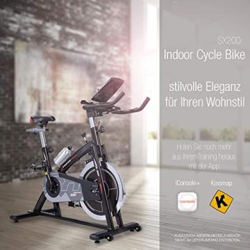 Sportstech Indoor Speedbike SX200 Sportgerät für Zuhause | Deutsches Qualitätsunternehmen + Video Events & Multiplayer APP | Hometrainer für Fitness | Heimtrainer-Fahrrad mit 22KG Schwungrad - 8