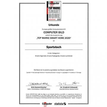 Sportstech Indoor Speedbike SX200 Sportgerät für Zuhause | Deutsches Qualitätsunternehmen + Video Events & Multiplayer APP | Hometrainer für Fitness | Heimtrainer-Fahrrad mit 22KG Schwungrad - 9
