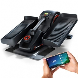 SPORTSTECH Mini Heimtrainer mit App | Stepper für Bewegung im Büro & Zuhause |Smarter Crosstrainer für Arbeitsplatz & Gesundheit | kein höhenverstellbarer Tisch notwendig | DFX70 Minibike Pedaltrainer - 1