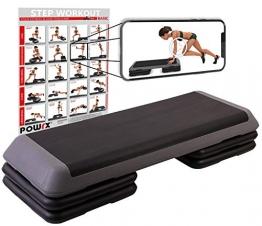 Steppbrett Profi XXL Fitness Set Aerobic Stepbench 110 x 42 cm (Steppbrett) - 1