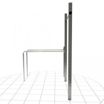 TOLYMP Outdoor-Turngerät Fitness-Station Dip Buin hochwertig und stabil aus V2A-Edelstahl mit Dip-Barren, Einer vielfach verstellbaren Turnstange - 4