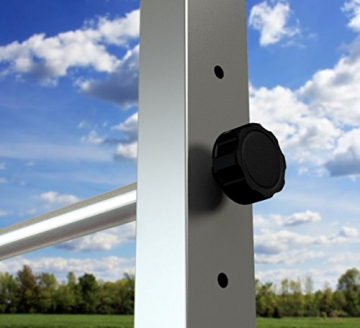 TOLYMP Outdoor-Turngerät Fitness-Station Dip Buin hochwertig und stabil aus V2A-Edelstahl mit Dip-Barren, Einer vielfach verstellbaren Turnstange - 6