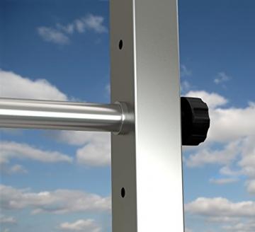 TOLYMP Outdoor-Turngerät Fitness-Station Dip Buin hochwertig und stabil aus V2A-Edelstahl mit Dip-Barren, Einer vielfach verstellbaren Turnstange - 7