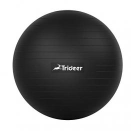 Trideer Dicker Gymnastikball inkl Ballpumpe, Robuster 700kg Maximalbelastbarkeit Sitzball Pilates Ball Yoga Ball als Fitness Kleingeräte und Balance Stuhl im Gym-Home-Büro - 1