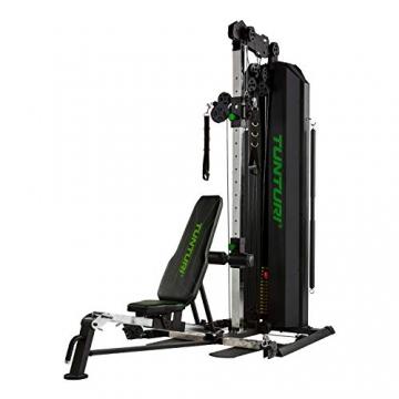 Tunturi Kraftstation HG80, Multigym mit 14 Gewichten a 5 kg, Fitnessstation, Gewichtsblock 70 kg - 1