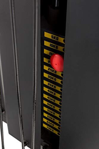 Tunturi Kraftstation HG80, Multigym mit 14 Gewichten a 5 kg, Fitnessstation, Gewichtsblock 70 kg - 9