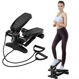 U`King Swing Stepper mit Gummiband und LCD-Display sowie bequemen Fußpedalen und Mini Stepper, Widerstand von Treppen und Indoor-Fitnessgeräten - 1