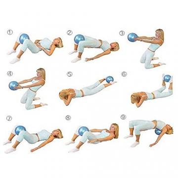 VLFit Mini 2er-Set Pilates Bälle 20cm + 25cm mit aufblasbaren Pipette für Stabilität, Barre, Pilates, Yoga, Core Training und Physiotherapie - 3