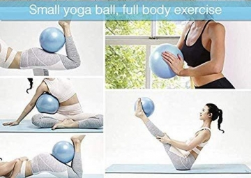 VLFit Mini 2er-Set Pilates Bälle 20cm + 25cm mit aufblasbaren Pipette für Stabilität, Barre, Pilates, Yoga, Core Training und Physiotherapie - 9