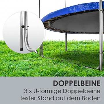 ArtSport Outdoor Trampolin Jampino Ø 305 cm GS-geprüft – Gartentrampolin mit Sicherheitsnetz, Leiter & Randabdeckung – Kindertrampolin bis 150 kg - 7
