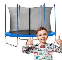 Gartentrampolin Waldensports 8FT 244cm, für Kinder, Trampolin Outdoor, Trampolin mit Sicherheitszaun und Gepolsterte Stangen für Kinder Indoor Outdoor Fitness, Belastbar bis 100 kg - 1
