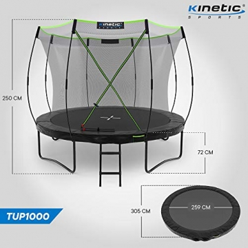 Kinetic Sports Gartentrampolin TUP1000, 305 cm, Black - 7