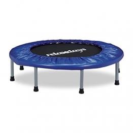 Relaxdays Trampolin faltbar, Indoor, Fitness H x B x T: 22 x 95 x 95 cm, Maximalbelastung 100 kg, blau-schwarz - 1