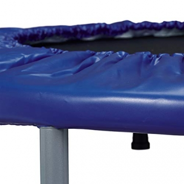 Relaxdays Trampolin faltbar, Indoor, Fitness H x B x T: 22 x 95 x 95 cm, Maximalbelastung 100 kg, blau-schwarz - 7