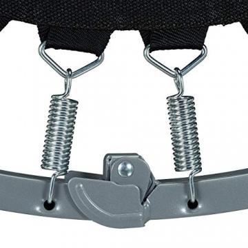Relaxdays Trampolin faltbar, Indoor, Fitness H x B x T: 22 x 95 x 95 cm, Maximalbelastung 100 kg, blau-schwarz - 8