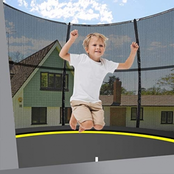 Ultrasport Gartentrampolin, Outdoor Trampolin, Kindertrampolin, 183-430cm, Sprungfedern oder innovatives Elastik Sprungssystem, inkl. Sicherheitsnetz, Witterungsbeständig, Belastbar 100-150 Kg - 6