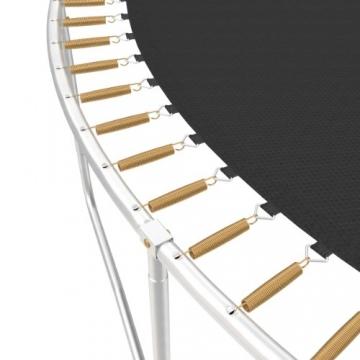 Ampel 24 Outdoor Trampolin 430 cm grün mit außenliegendem Netz, gepolsterten Stangen, Stabilitätsring, Leiter & Windsicherung, Belastbarkeit 160 kg, 1 Paar Antirutsch-Socken extra - 2