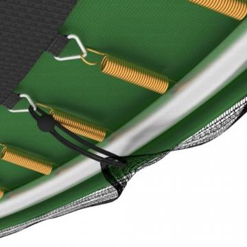 Ampel 24 Outdoor Trampolin 430 cm grün mit außenliegendem Netz, gepolsterten Stangen, Stabilitätsring, Leiter & Windsicherung, Belastbarkeit 160 kg, 1 Paar Antirutsch-Socken extra - 3