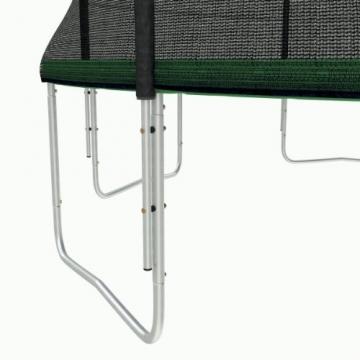 Ampel 24 Outdoor Trampolin 430 cm grün mit außenliegendem Netz, gepolsterten Stangen, Stabilitätsring, Leiter & Windsicherung, Belastbarkeit 160 kg, 1 Paar Antirutsch-Socken extra - 5