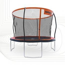 SportPlus Gartentrampolin, TÜV GS geprüft, Sprungtuch ca. 305cm, schweißnahtfreie Rahmenkonstruktion, abnehmbares Sicherheitsnetz, inkl. Randabdeckung, Nutzergewicht bis 120kg - 1