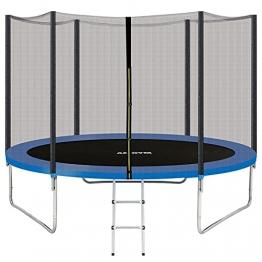 AMGYM Trampolin 305 cm Sports Outdoor Gartentrampolin Komplettset inklusive mit Sicherheitsnetz, Leiter, Randabdeckung & Zubehör Kindertrampolin Belastbarkeit 200 kg TÜV GS EN71 Zertifiziert - 1