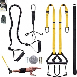 Clothink Sling Trainer Schlingentrainer bis 300 kg Fußschlaufen Übungsanleitung Längenverstellbar Fitness Zuhause Suspension - 1