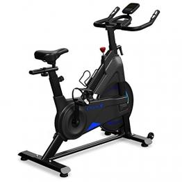 Dripex Heimtrainer Fahrrad Indoor Hometrainer Ergometer mit Stahlschwungrad, Magnetbremse, Pulsmesser, LCD-Anzeige und Flaschehalter Benutzergewicht bis 120kg - 1