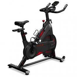 Dripex Speedbike Indoor Cycle mit Magnetwiderstand, Stufenlose Widerstandseinstellung, Größenverstellbar, Leise Riemenantrieb, LCD Monitor, Pulse Sensor, max. Benutzergewicht 120 kg - 1