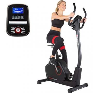 HAMMER Ergometer Cardio XT6 BT, leises Fitnessfahrrad mit tiefem Einstieg und Comfort-Sattel, 13 kg Schwungmassensystem, Bluetooth & App-Steuerung, 130 kg Benutzergewicht, 93 x 51 x 150 cm - 1
