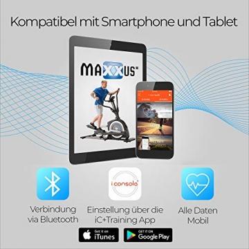 MAXXUS Ergometer Bike 4.2 - APP-Steuerung über Bluetooth, 16 Widerstandsstufen, Fitnessbike bis 160 kg hoch belastbar - 6