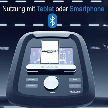 MAXXUS Ergometer Bike 4.2 - APP-Steuerung über Bluetooth, 16 Widerstandsstufen, Fitnessbike bis 160 kg hoch belastbar - 8