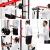 Peak Power Power Rack, massive standsichere Stahlkonstruktion, Fitness Rack Set mit 2 Spottern, Klimmzugstange, Dip-Ständer, Latzug und Ruderzug – für Anfänger und Fortgeschrittene(Schwarz/Rot) - 6