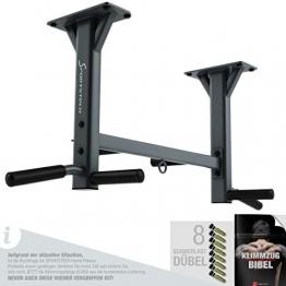 Sportstech 4in1 Klimmzugstange KS400 Deckenmontage, 6 rutschfeste Griffe, extrem stabil, unzählige Pull Up Übungen - 1