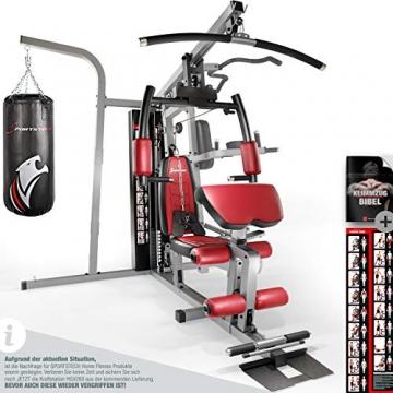 Sportstech Premium 50in1 Kraftstation für EIN Allround Training   Multifunktions-Heimtrainer mit Stepper & LAT-Zugturm   HGX Fitness-Station aus Eva Material   Robust für Zuhause (HGX260 Modell2021) - 1