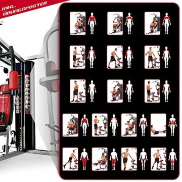 Sportstech Premium 50in1 Kraftstation für EIN Allround Training   Multifunktions-Heimtrainer mit Stepper & LAT-Zugturm   HGX Fitness-Station aus Eva Material   Robust für Zuhause (HGX260 Modell2021) - 9