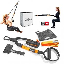 slingSports® Schlingentrainer | Sling Trainer | Suspension Trainer Set mit Türanker, Endlosschlaufe | Schlinge | Krafttraining für Zuhause und draußen - 1